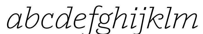 Outsiders LightItalic Font LOWERCASE