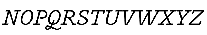 Outsiders MediumItalic Font UPPERCASE