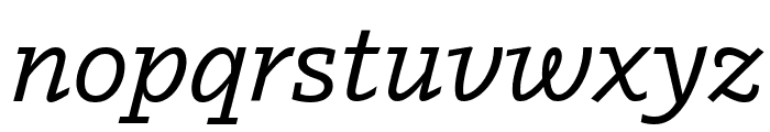 Outsiders MediumItalic Font LOWERCASE