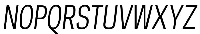 PolarisCondensed BookItalic Font UPPERCASE
