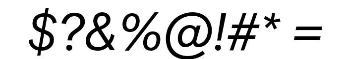 PostGrotesk BookItalic Font OTHER CHARS