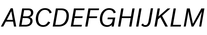 PostGrotesk BookItalic Font UPPERCASE