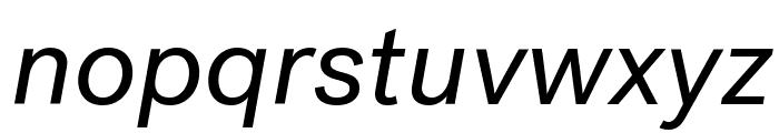 PostGrotesk BookItalic Font LOWERCASE