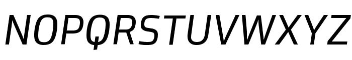Proof BookItalic Font UPPERCASE