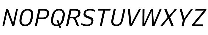 Queue BookItalic Font UPPERCASE