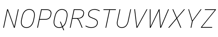 Queue ThinItalic Font UPPERCASE