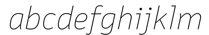 Queue ThinItalic Font LOWERCASE