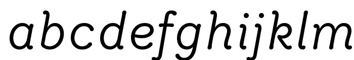 Router BookItalic Font LOWERCASE