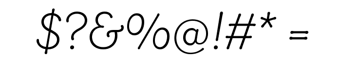 Router LightItalic Font OTHER CHARS