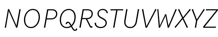 Router LightItalic Font UPPERCASE