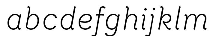 Router LightItalic Font LOWERCASE
