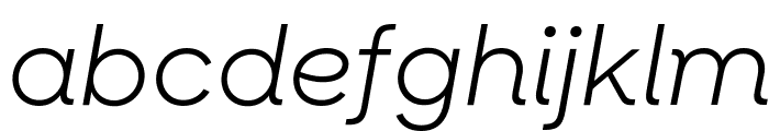 SharpSansNo1 BookItalic Font LOWERCASE