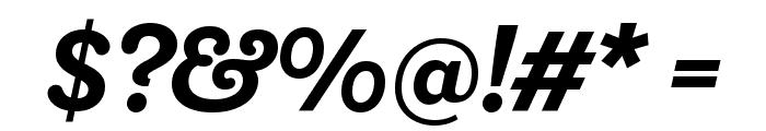 Shift BoldItalic Font OTHER CHARS