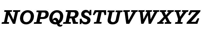 Shift BoldItalic Font UPPERCASE