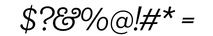 Shift BookItalic Font OTHER CHARS