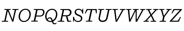 Shift BookItalic Font UPPERCASE