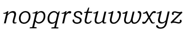 Shift BookItalic Font LOWERCASE