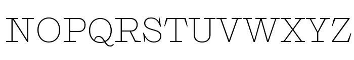 Shift Extralight Font UPPERCASE