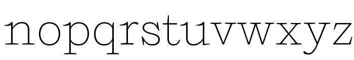 Shift Extralight Font LOWERCASE