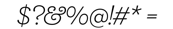 Shift LightItalic Font OTHER CHARS