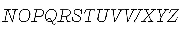 Shift LightItalic Font UPPERCASE