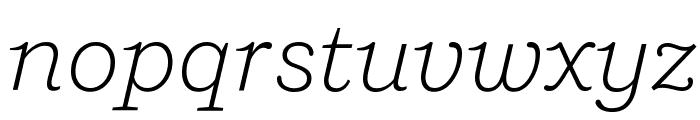 Shift LightItalic Font LOWERCASE