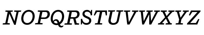 Shift MediumItalic Font UPPERCASE