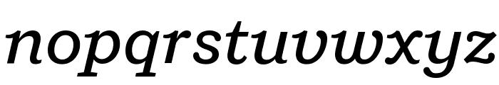 Shift MediumItalic Font LOWERCASE