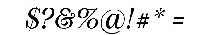 SilvaDisplay BookItalic Font OTHER CHARS