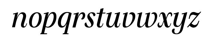SilvaDisplay BookItalic Font LOWERCASE