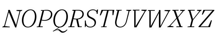 SilvaDisplay ExtralightItalic Font UPPERCASE