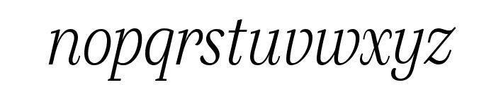 SilvaDisplay ExtralightItalic Font LOWERCASE