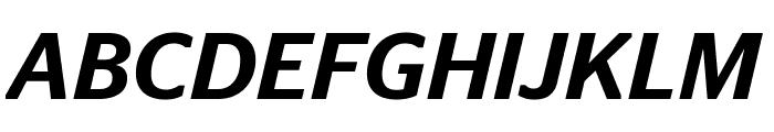 StagSans MediumItalic Font UPPERCASE