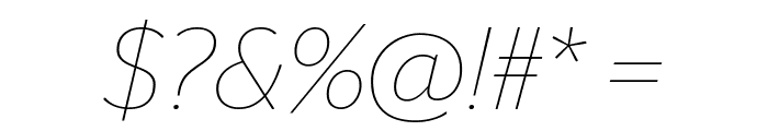 StagSans ThinItalic Font OTHER CHARS