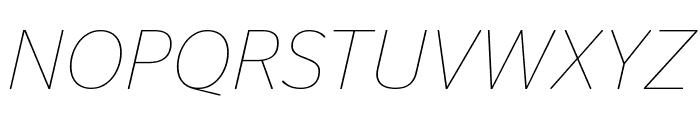 StagSans ThinItalic Font UPPERCASE