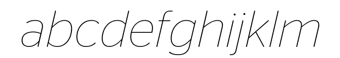 StagSans ThinItalic Font LOWERCASE
