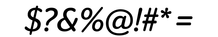 StagSansRound BookItalic Font OTHER CHARS