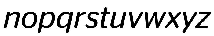 StagSansRound BookItalic Font LOWERCASE
