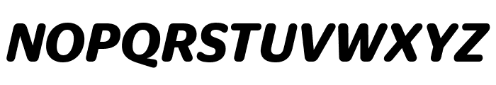 StagSansRound SemiboldItalic Font UPPERCASE