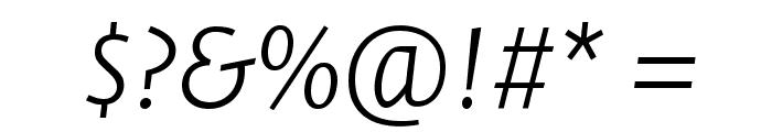 Stella ExtralightItalic Font OTHER CHARS