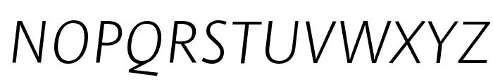 Stella ExtralightItalic Font UPPERCASE