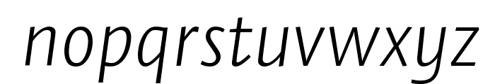 Stella ExtralightItalic Font LOWERCASE