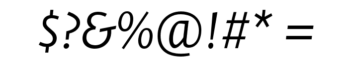 Stella LightItalic Font OTHER CHARS