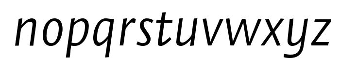 Stella LightItalic Font LOWERCASE