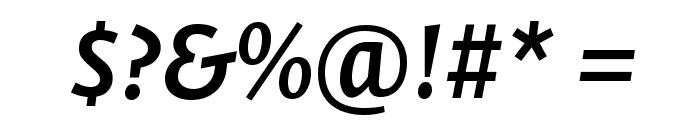 Stella SemiboldItalic Font OTHER CHARS