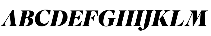 SuperiorTitle BlackItalic Font UPPERCASE