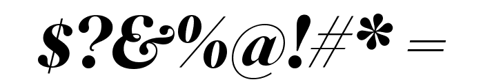 SuperiorTitle BoldItalic Font OTHER CHARS