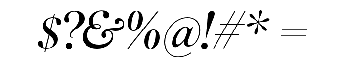 SuperiorTitle LightItalic Font OTHER CHARS