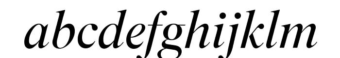 SuperiorTitle LightItalic Font LOWERCASE