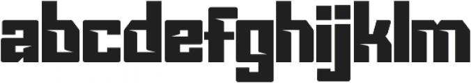 VORGstd Regular otf (400) Font LOWERCASE